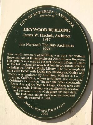 Heywood Building Marker image. Click for full size.
