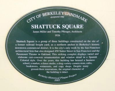Shattuck Square Marker image. Click for full size.