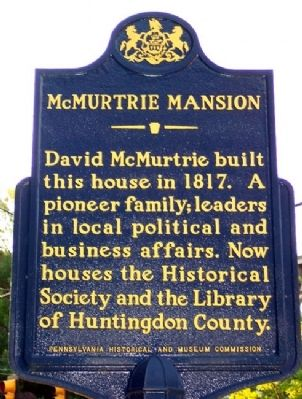 McMurtrie Mansion Marker image. Click for full size.