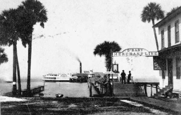 <i>City of Jacksonville</i> at the DeBary Merchant Line dock in Sanford image. Click for full size.