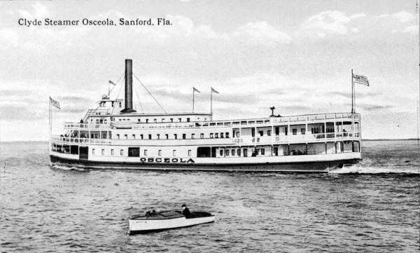 Clyde Line Steamer <i>Osceola</i> at Sanford image. Click for full size.