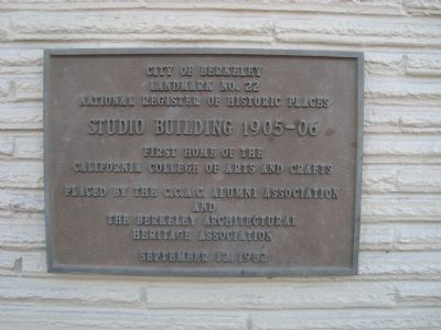Studio Building 1905-06 Marker image. Click for full size.
