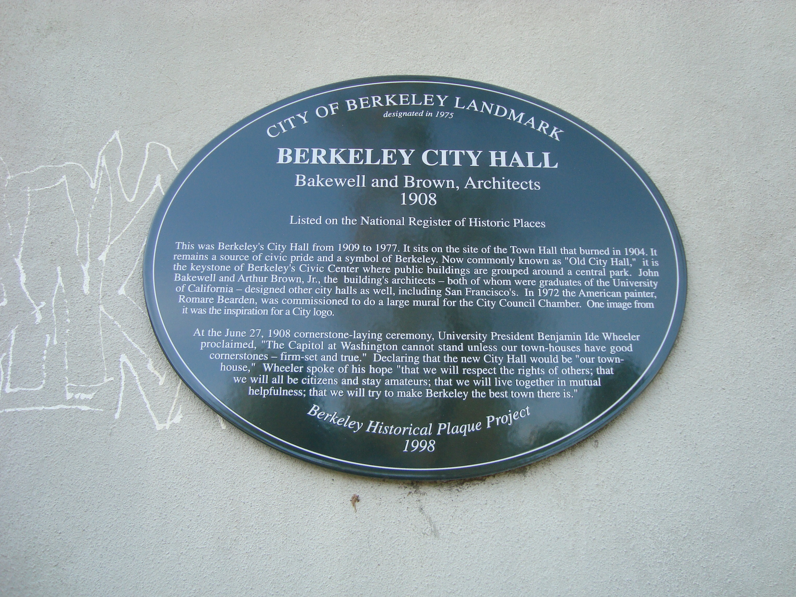 Berkeley City Hall Marker