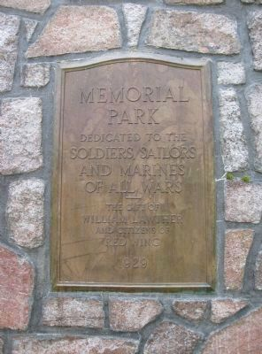 Memorial Park Plaque image. Click for full size.