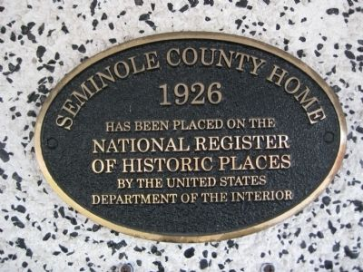 Old Folks Home NRHP Plaque image. Click for full size.
