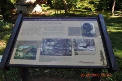 The Springhouse Marker image. Click for full size.