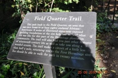 Field Quarter Trail Marker image. Click for full size.