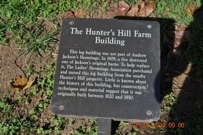 The Hunter's Hill Farm Building Marker image. Click for full size.