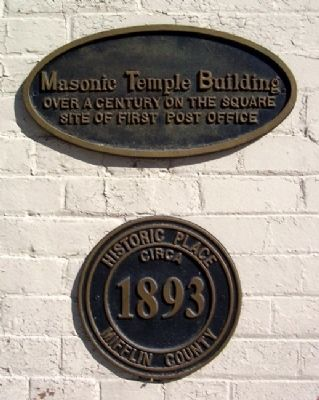Masonic Temple Building Marker image. Click for full size.