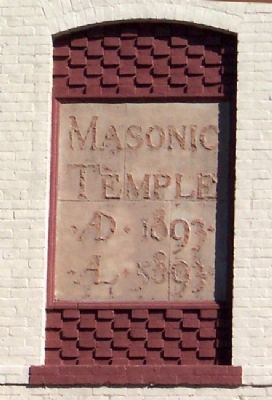 Former Masonic Temple Frontispiece image. Click for full size.