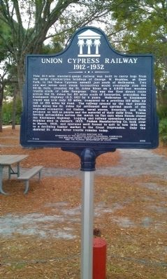 Union Cypress Railway Marker image. Click for full size.