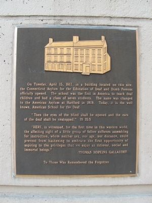 American School for the Deaf Marker image. Click for full size.
