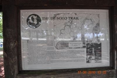 The De Soto Trail (markers side by side) image. Click for full size.