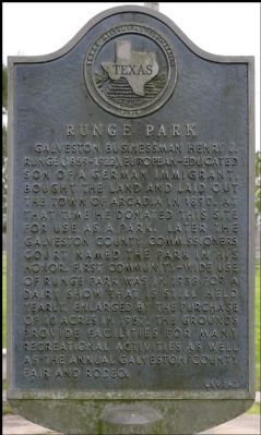 Runge Park Marker image. Click for full size.