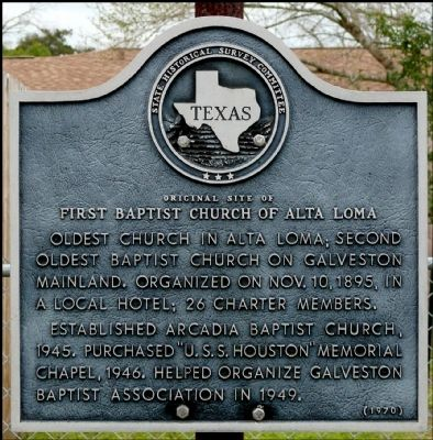 First Baptist Church of Alta Loma Marker image. Click for full size.