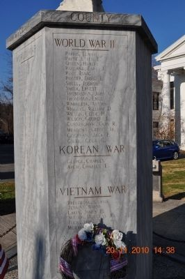 War Dead of Swain County Marker World War II (part 2) Korean War and Vietnam War image. Click for full size.