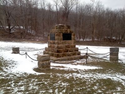 The Old Portage Rail Road Monument image. Click for full size.