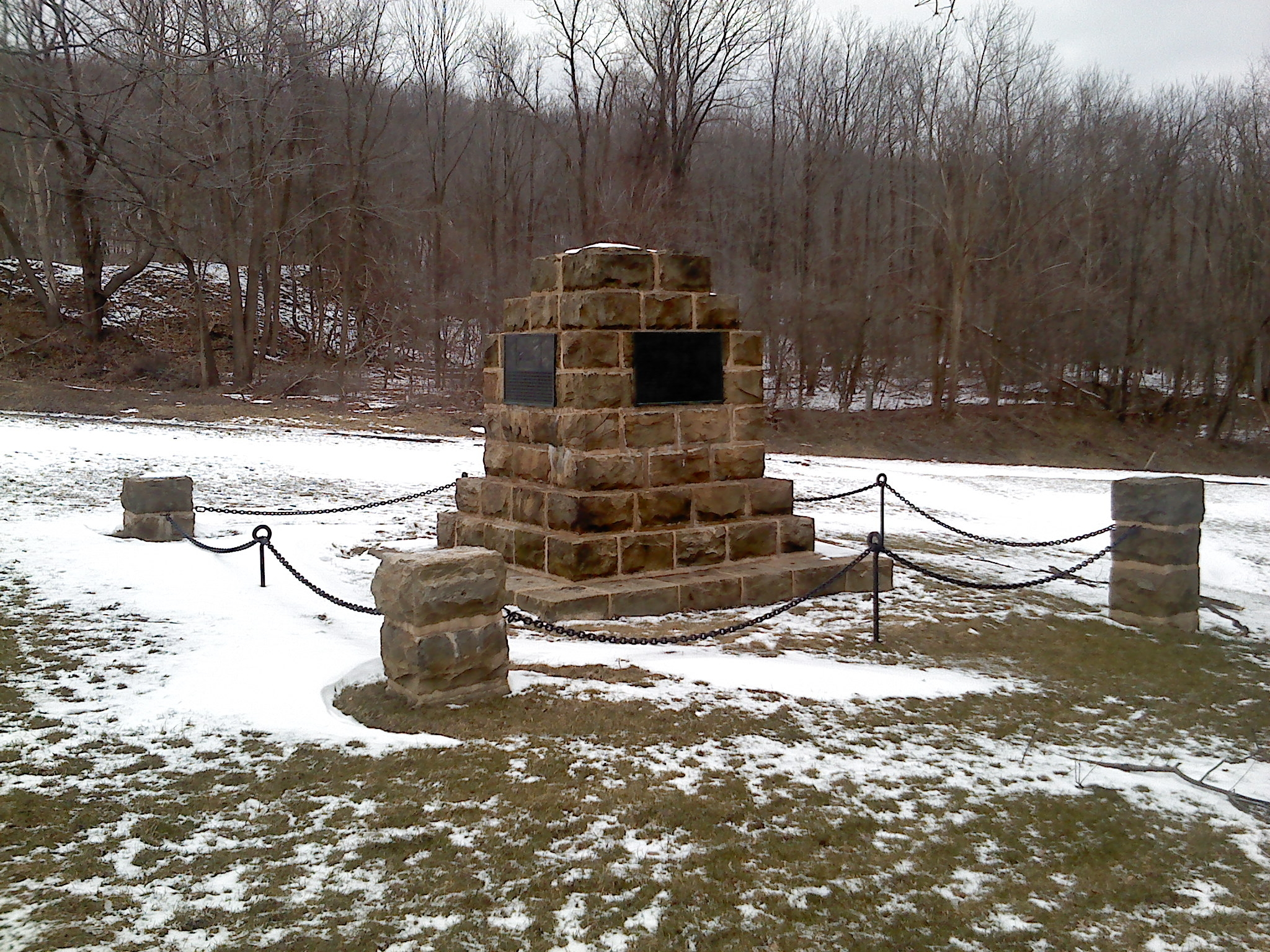 The Old Portage Rail Road Monument