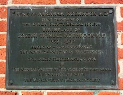 Home of Abraham Rothrock, M.D. Marker image. Click for full size.
