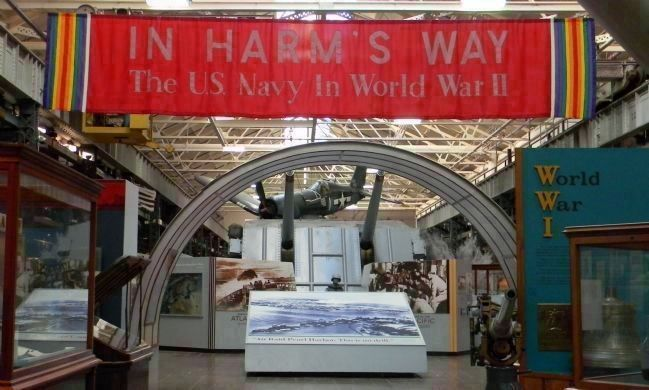 "The Navy Museum - entrance to ""In Harm's Way"" (exhibits relating to the USN in WWII) image. Click for full size."