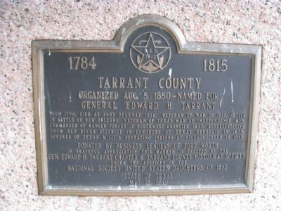 1784 Tarrant County 1815 Marker image. Click for full size.
