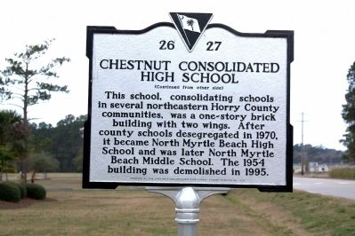 Chestnut Consolidated School Marker, Side B image. Click for full size.