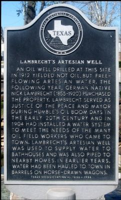 Lambrecht's Artesian Well Marker image. Click for full size.