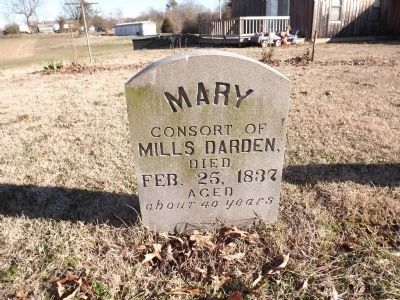 Mary Darden Grave Marker image. Click for full size.