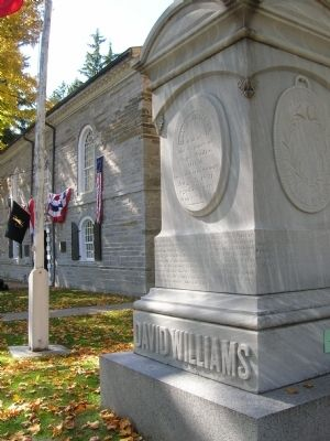 David Williams Memorial Marker & Old Stone Fort image. Click for full size.