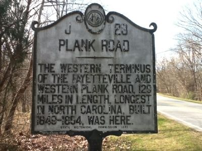 Plank Road Marker image. Click for full size.
