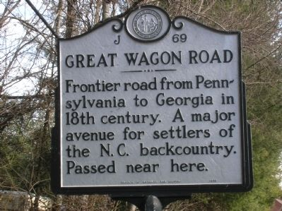 Great Wagon Road Marker image. Click for full size.