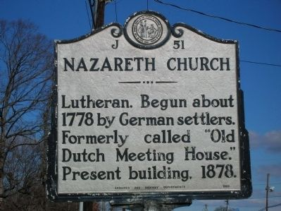 Nazareth Church Marker image. Click for full size.
