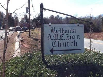 Entrance to Bethania A.M.E. Zion Church image. Click for full size.