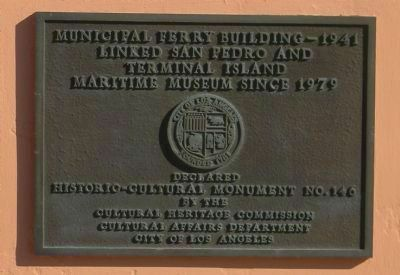 Municipal Ferry Building - Maritime Museum Marker image. Click for full size.