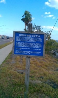 Eau Gallie Bridge to the Beach Marker image. Click for full size.
