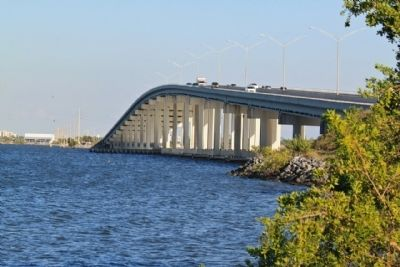 The Eau Gallie Causeway Bridge image. Click for full size.