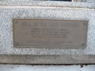 Bell of the U.S.S. Hartford Marker image. Click for full size.