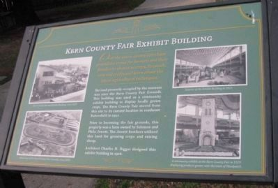 Kern County Fair Exhibit Building Marker image. Click for full size.