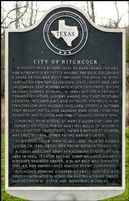 City of Hitchcock Marker image. Click for full size.