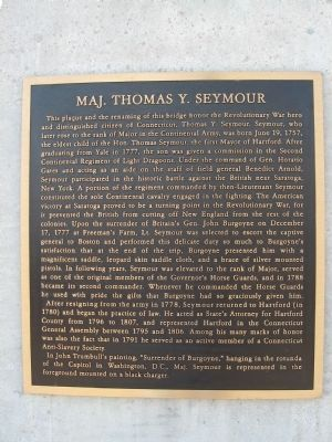 Maj. Thomas Y. Seymour Marker image. Click for full size.