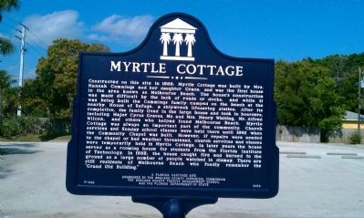 Myrtle Cottage Marker image. Click for full size.