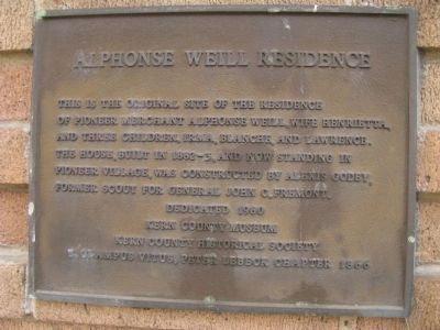 Alphonse Weill Residence Marker image. Click for full size.