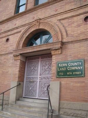 Kern County Land Company Building Marker image. Click for full size.