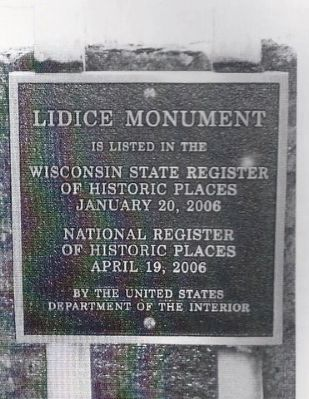 Lidice Memorial Marker image. Click for full size.