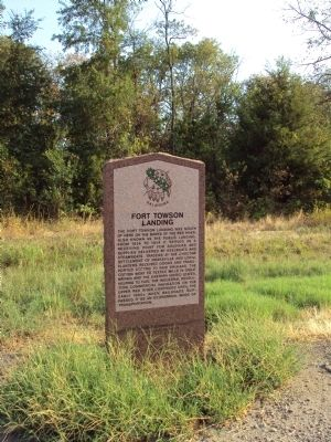 Fort Towson Landing Marker image. Click for full size.
