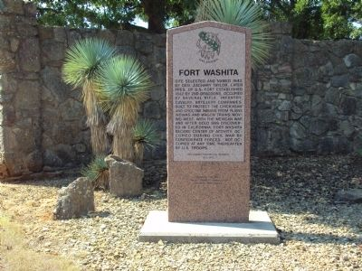 Fort Washita Marker image. Click for full size.