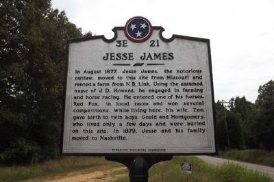 Jesse James Marker image. Click for full size.