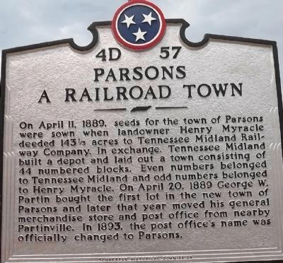 Parsons Marker (reverse) image. Click for full size.