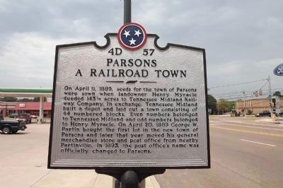 Parsons Marker (looking north) image. Click for full size.