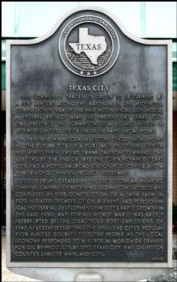 Texas City Marker image. Click for full size.